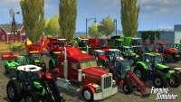 Camiones, cosechadoras y tractores en la figura, farming Simulator 2013