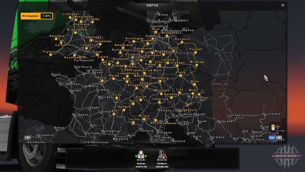 mapa euro truck simulator 2 Euro Truck Simulator 2 mapas   ETS 2 mapa de mods mapa euro truck simulator 2