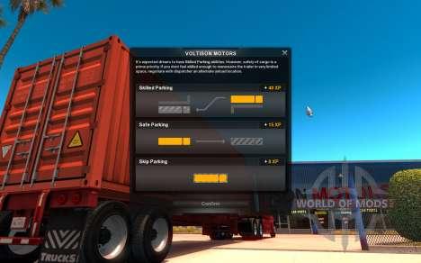 La interfaz de la American Truck Simulator