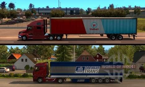 American Truck Simulator - comparación de la longitud del remolque