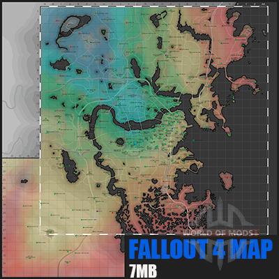 mapa Detallado Fallout 4