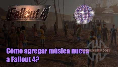 Cómo agregar música a Fallout 4?