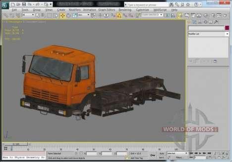 Camión de la vista en 3D Max