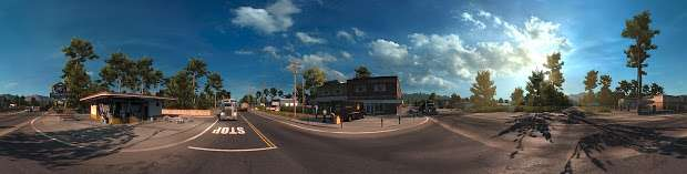American Truck Simulator - cruce de carreteras panorama