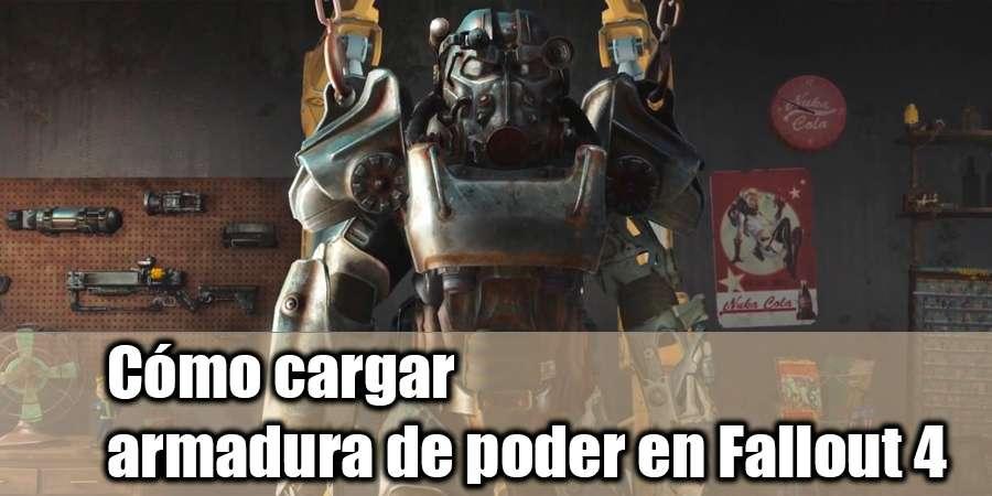 Cómo cargar la armadura de poder en Fallout 4