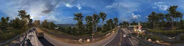 American Truck Simulator - en el campo de la autopista panorama