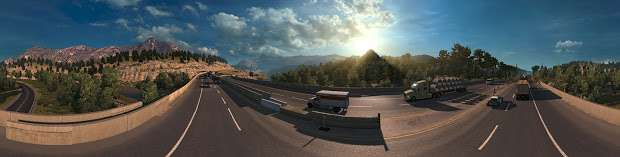 American Truck Simulator - carretera panorama