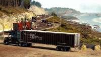 tendremos 4 camiones, uno de los pasajeros del coche, de la costa, y el desenfoque de la gran cantidad de contraste