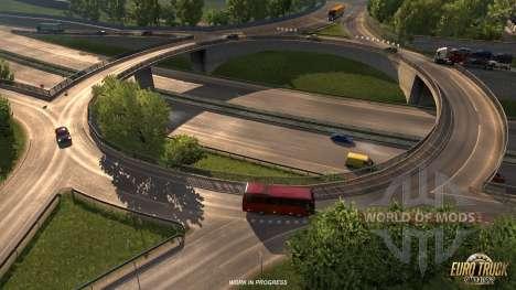 el Extendido de la infraestructura vial