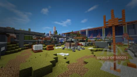 Cosmodrome de Destiny en Minecraft