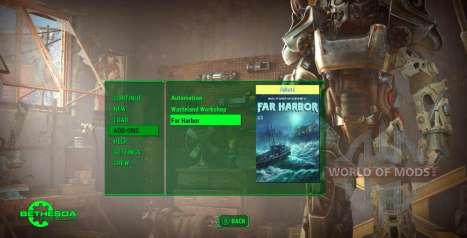 la Actualización de menú en Fallout 4
