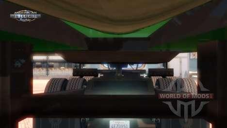 Punto de enganche de un remolque y un camión American Truck Simulator