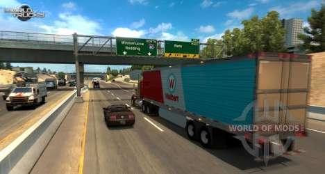 Una captura de pantalla American Truck Simulator update de la prueba beta