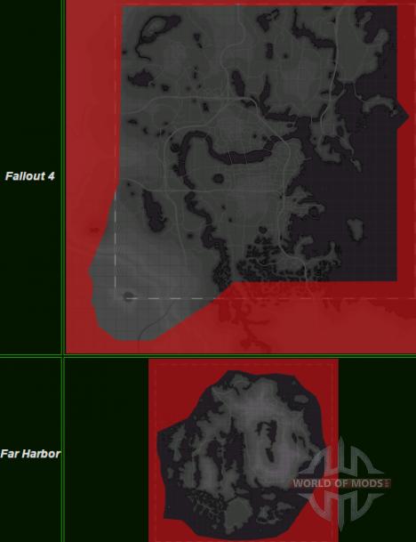 Fallout 4 y Ahora Hrabor mapas comparar