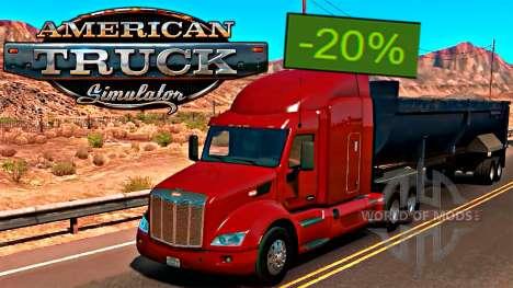 American Truck Simulator 20% de descuento en Steam