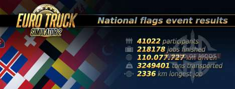 las Estadisticas de las National Flags de Evento en Euro Truck Simulator 2