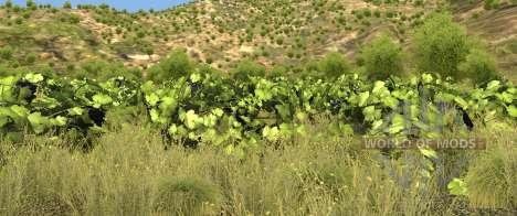 la Vegetación en el mapa de Italia para BeamNG Drive