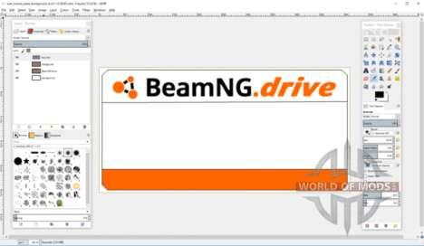 Crear plantilla de la placa de licencia para BeamNG Drive