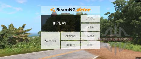 Nuevo menú principal BeamNG Drive
