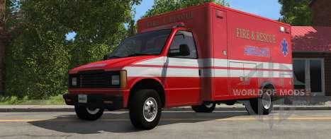 H-Series Ambulancia variante de BeamNG Drive de la vista de frente