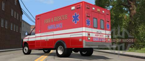 H-Series Ambulancia variante de BeamNG Drive - vista posterior