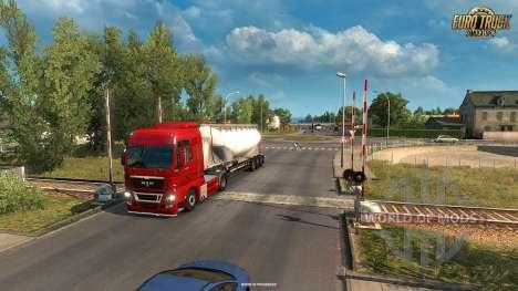 cruce de Ferrocarril en el Vive La France actualización para Euro Truck Simulator 2