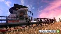 La Mujer agricultor de la conducción de una cosechadora en FS 17
