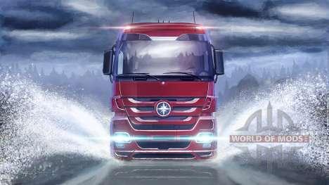 En la superficie del agua en Euro Truck Simulator 2