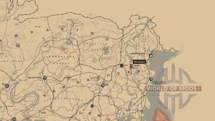 Treasure map Red Dead Redemption 2
