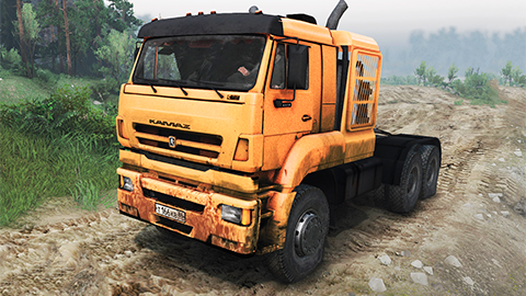 Impresionante KAMAZ 65226 mod para SpinTires 2014