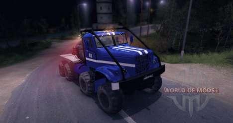 Ensayo de KrAZ 8 x 8 para Spin Tires