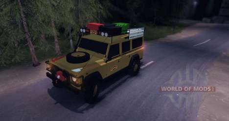 Land Rover Defender 110 CAMEL TROPHY para Spin Tires
