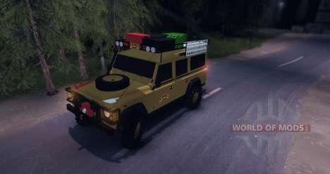 Land Rover Defender 110 CAMEL TROPHY para Spin Tires