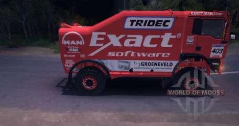 MAN TGA 18.531BB DAKAR para Spin Tires