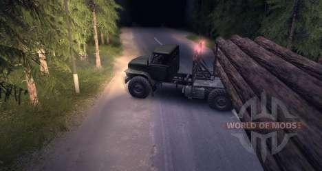 El portador de la madera de Urales para Spin Tires