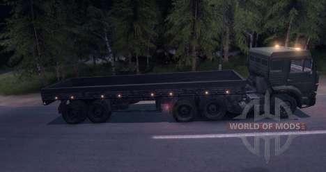 Camiones con remolque para Spin Tires