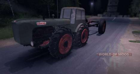 Dutra D4K with Trailer para Spin Tires