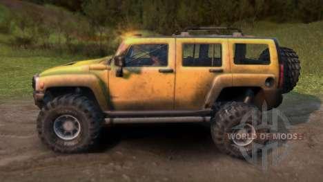 Hummer H3 para Spin Tires