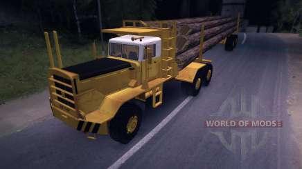 Carro de madera Hayes HQ 142 (HDX) con semi-remolque para Spin Tires