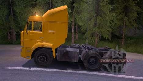 KAMAZ-65116 amarillo para Spin Tires