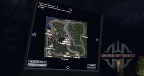 Mapa de filmación mapa para Spin Tires