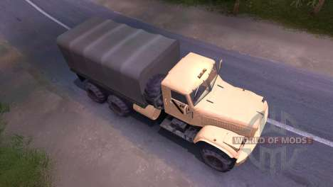 Camión KrAZ-crema para Spin Tires