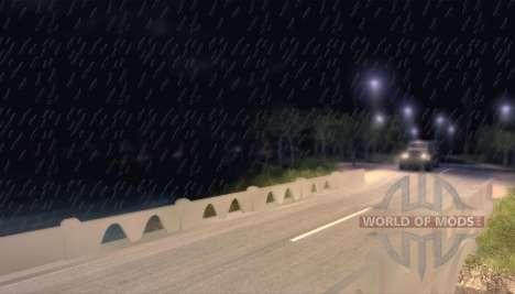 Precipitación como lluvia para Spin Tires