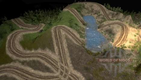 Mapa de la prueba australiana para Spin Tires
