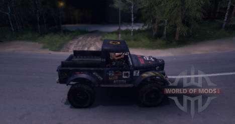 Gaz-69 of Road Edition para Spin Tires