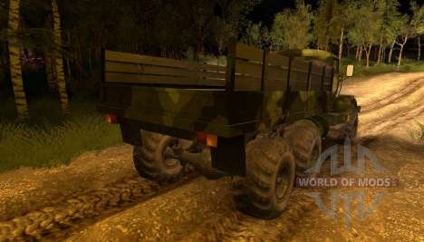 Camión KrAZ Camo para Spin Tires