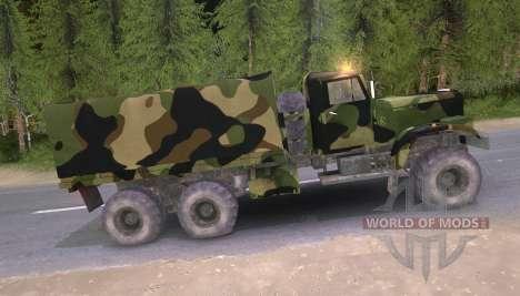 Camión KrAZ Camo v2 para Spin Tires