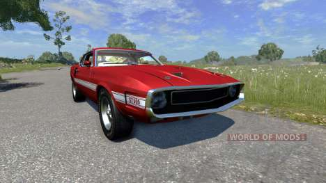 Ford Mustang Shelby GT500 428 Cobra Jet 1969 para BeamNG Drive