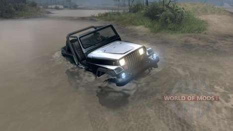 Jeep Wrangler YJ Sahara para Spin Tires