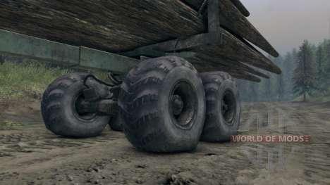 KrAZ-L madera v3.0 para Spin Tires